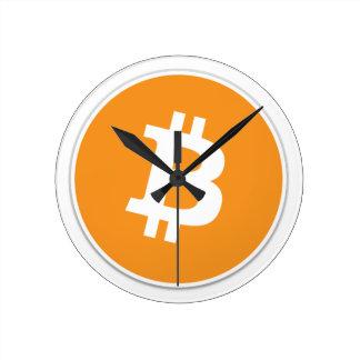 Reloj Redondo Mediano ¡Moneda Crypto de Bitcoin - para el Bitcoin aviva!