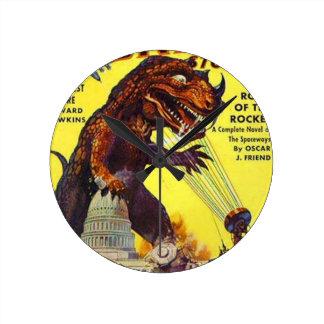 Reloj Redondo Mediano monstruo del lagarto gigante