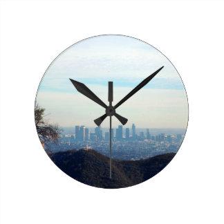 Reloj Redondo Mediano Montaña enmarcada LA