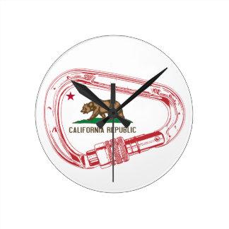 Reloj Redondo Mediano Mosquetón que sube de California