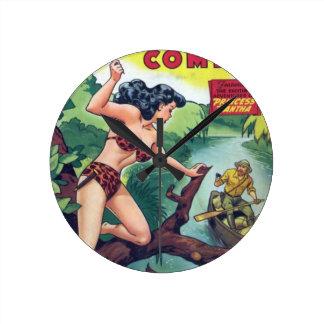 Reloj Redondo Mediano Mujer de la selva