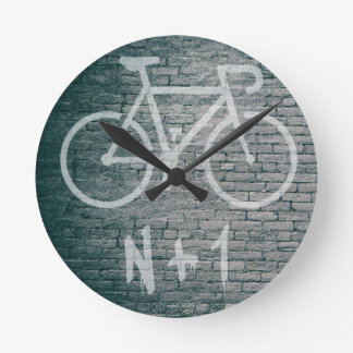 Reloj Redondo Mediano N+1 pintada de la bici