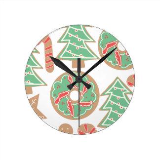 Reloj Redondo Mediano Navidad que cuece la impresión