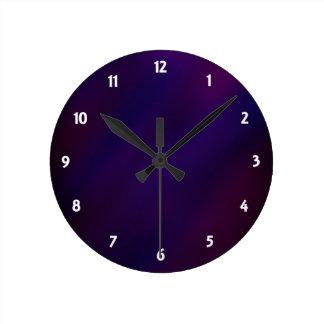 Reloj Redondo Mediano Neblina abstracta