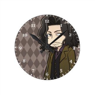 Reloj Redondo Mediano Negro de Sirius del animado