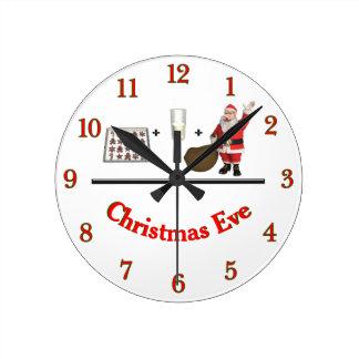 Reloj Redondo Mediano Nochebuena de la leche y de las galletas