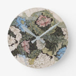 Reloj Redondo Mediano Noveau floral Morris