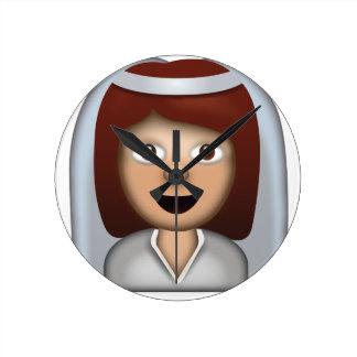 Reloj Redondo Mediano Novia con el velo Emoji