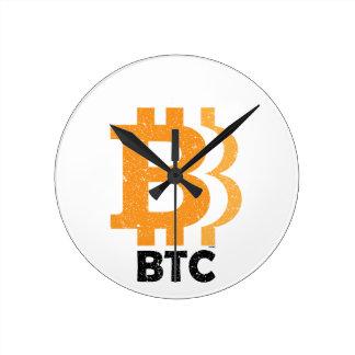 Reloj Redondo Mediano Obras clásicas de Bitcoin