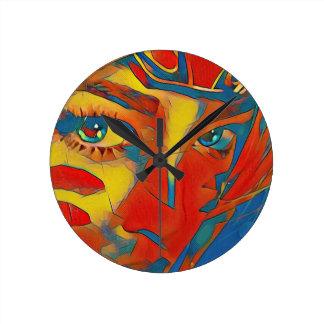 Reloj Redondo Mediano Ojos artísticos contemporáneos infrecuentes