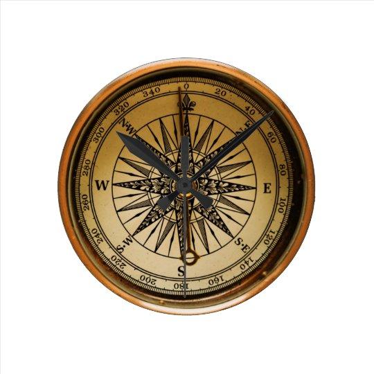 Reloj Redondo Mediano Old Compass