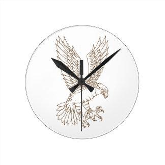 Reloj Redondo Mediano Osprey Swooping el dibujo