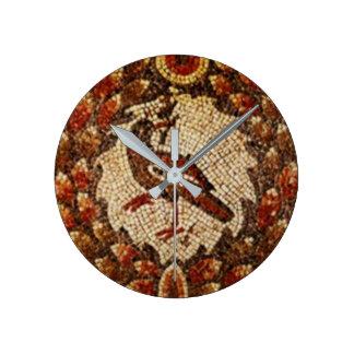 Reloj Redondo Mediano Pájaro bizantino