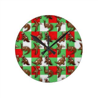 Reloj Redondo Mediano Pan de jengibre Dinos