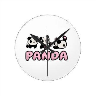 Reloj Redondo Mediano Panda
