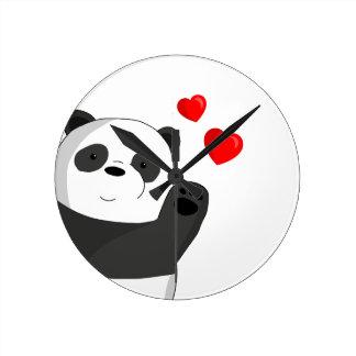 Reloj Redondo Mediano Panda linda