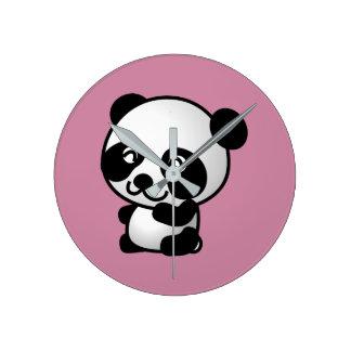 Reloj Redondo Mediano Panda Wallclock