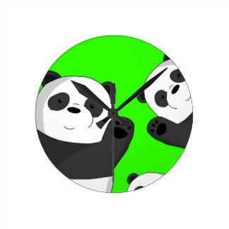 Reloj Redondo Mediano Pandas lindas