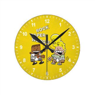 Reloj Redondo Mediano Papel Wedgie de la roca de capitán Underpants el |