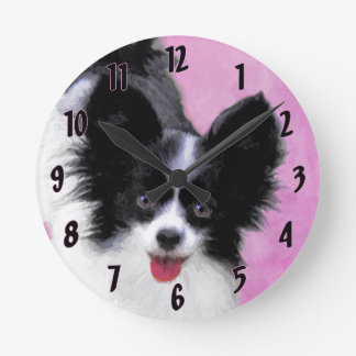 Reloj Redondo Mediano Papillon (blanco y negro)