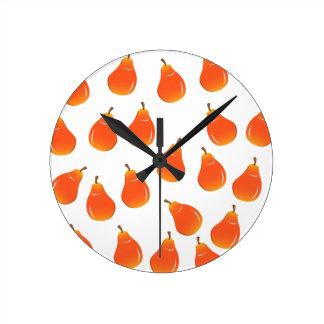 Reloj Redondo Mediano Pera