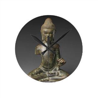 Reloj Redondo Mediano Período asentado de Buda - de Pyu