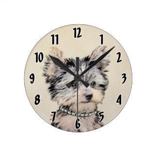 Reloj Redondo Mediano Perrito de Yorkshire Terrier