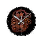Reloj Redondo Mediano Perros de máquinas Fun Steampunk Vintage Rusty 180