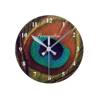 Reloj Redondo Mediano Personalizado elegante de lujo de la foto del ojo