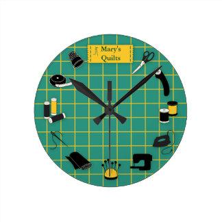 Reloj Redondo Mediano Personalizar del tiempo del edredón la etiqueta