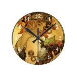 Reloj Redondo Mediano Pintura de Alfonso Mucha