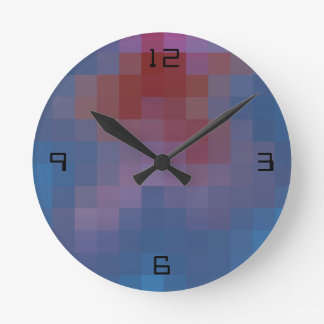 Reloj Redondo Mediano Pixelated con números