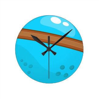Reloj Redondo Mediano Planeta azul