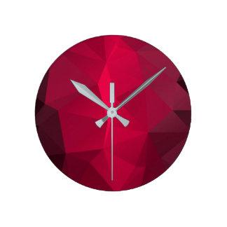 Reloj Redondo Mediano Plantilla enrrollada de la cereza del modelo