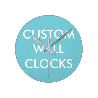 Reloj Redondo Mediano Plantilla personalizada personalizado del espacio