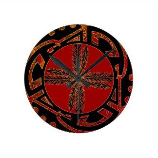 Reloj Redondo Mediano Pluma nativa