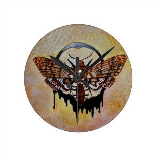 Reloj Redondo Mediano Polilla de halcón de la cabeza de muerte