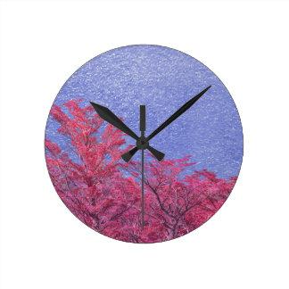 Reloj Redondo Mediano Poster del tema del paisaje de la fantasía