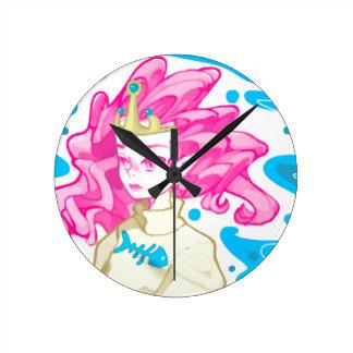 Reloj Redondo Mediano Princesa del mar