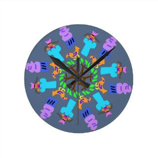 Reloj Redondo Mediano Princesa en la torre