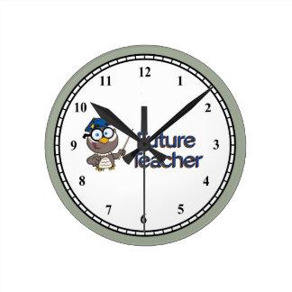 Reloj Redondo Mediano Profesor futuro
