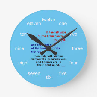 Reloj Redondo Mediano Progresistas en mente correcta