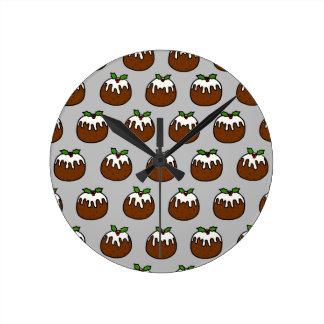 Reloj Redondo Mediano Pudines del navidad