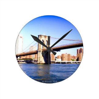 Reloj Redondo Mediano Puente de Brooklyn