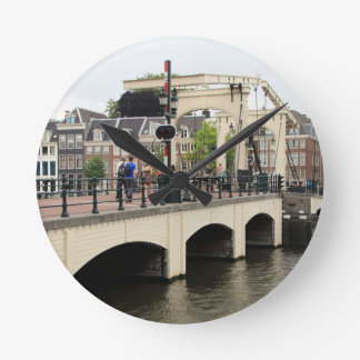 Reloj Redondo Mediano Puente flaco, Amsterdam, Holanda