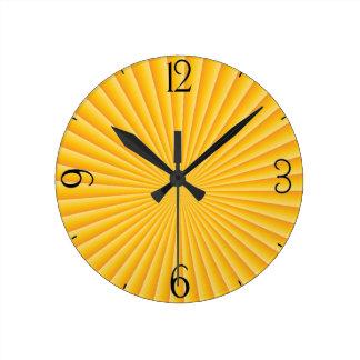 Reloj Redondo Mediano Puesta del sol de la buena mañana