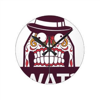 Reloj Redondo Mediano qué wat los dientes asustadizos diseñan