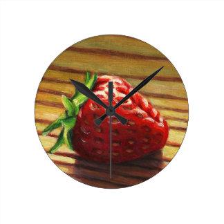 Reloj Redondo Mediano Raya de la fresa