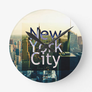 Reloj Redondo Mediano Recuerdo de New York City