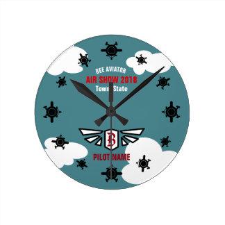 Reloj Redondo Mediano Recuerdo del salón aeronáutico